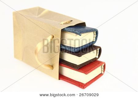 Books in a paper bag