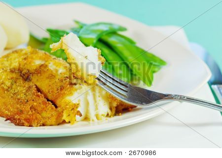 Fresh Cod On A Fork