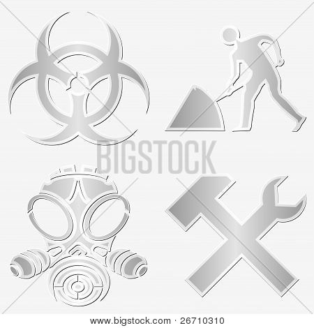 Warning Symbols Stickers