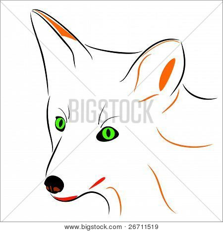 Illustrated image of a fox