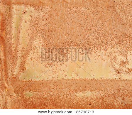 Farbfoto der alten Metalloberflächen mit Rost