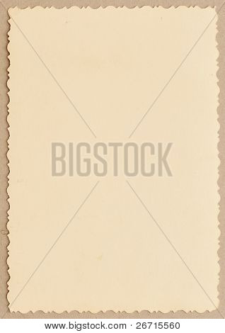 vintage photo with a decorative border