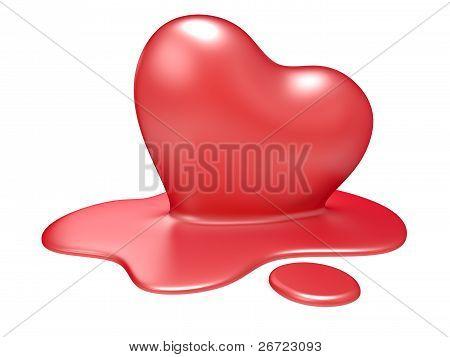 3D Melting Heart