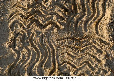 Zigzag Lines At Sand