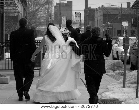 Winter Wedding Party Black & White