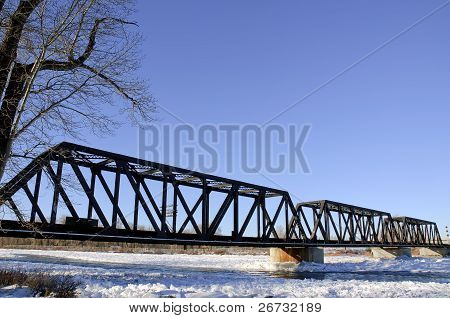 Bridge Over River Ice