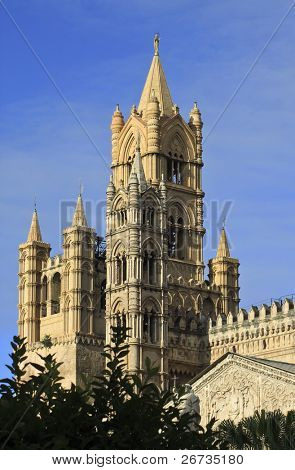 Spires of Palermo Cathedral, Italy