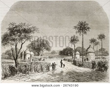Belenia vila velha opinião, Sudão. Criado por Lancelot depois Werne, publicado em Le Tour du Monde, Par