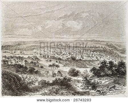 Matanzas old view, Cuba. Created by Lancelot after Mialhe, published on Le Tour du Monde, Paris, 1860