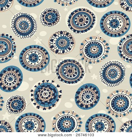 Abstract seamless pattern in marine style.