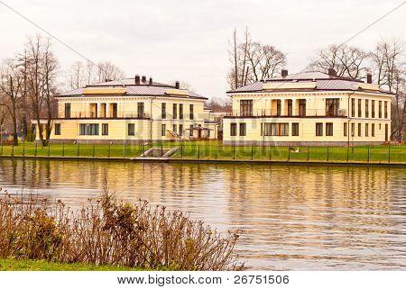 Waterview houses in Saint Petersburg, Russia.
