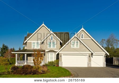 residential house in Vancouver metro area, fall season