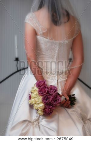 Bridal Bouquet Behind Back