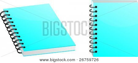 Two interesting angles of a very clean and sharp looking notebook.