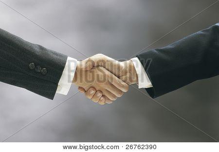 Lager Bild von der Hand-shake