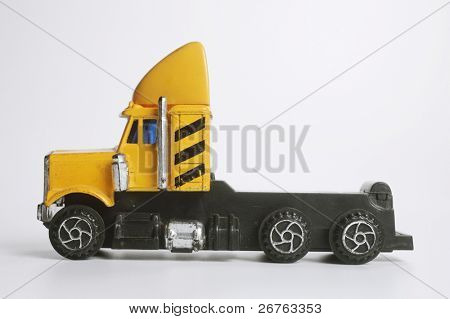 close up of the toy -truck