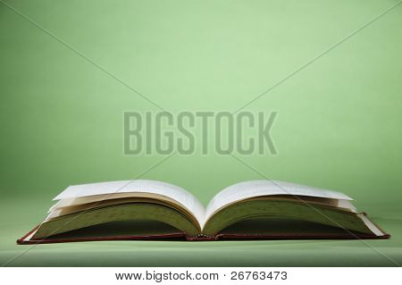 stock image of the open book