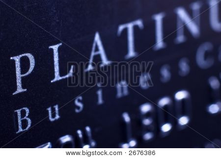 A close up of a business credit card.
