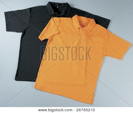 Front of clean T-Shirts (Polo). With Clipping Path.