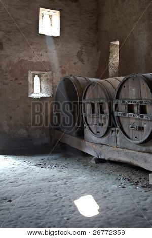 Wine barrels in St. George monastery, Stein-Am-Rhein, Switzerland