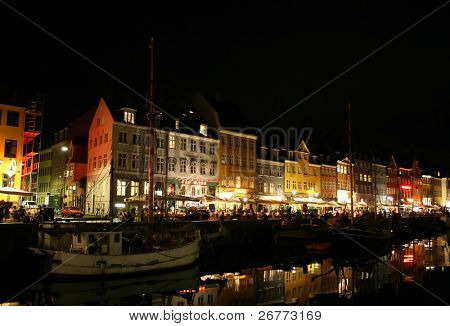 Cityscape of Copenhagen city (Denmark)