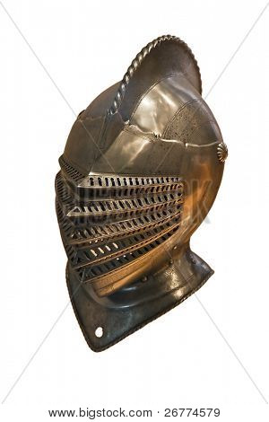 Knight's armor isolated on white