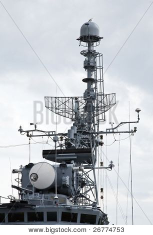 Navigation equipment of the modern battleship
