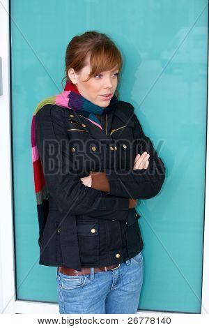 Teenage Girl Freezing