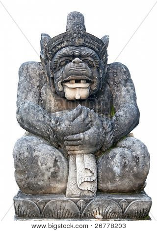 Traditional Balinese sculpture depicting Hanuman (One of the Ramayna heroes)