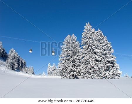 Winter in Schweizer Alpen (Flumserberg, St.Gallen, Schweiz)