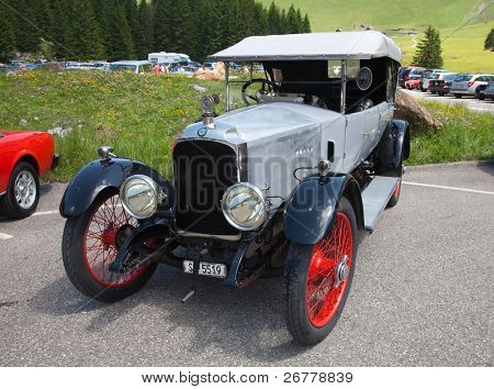 SCHWAEGALP - JUNE 27: The Vauxhall oldtimer on the 7th International