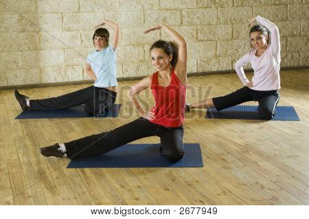 Stretching Exercises On Mat