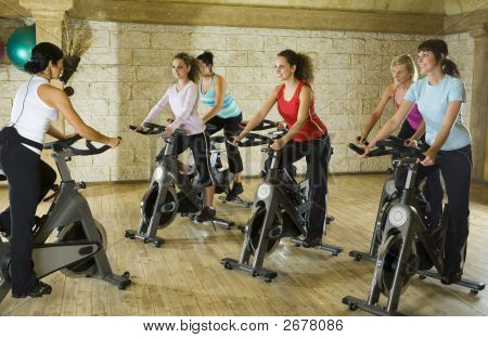 Working Out On Exercising Bikes
