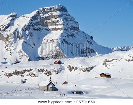 Winter in the swiss alps (Melchsee-Frutt, Luzern, Switzerland)