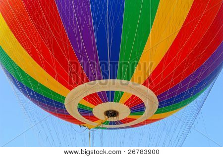 hot air balloon festival,The colors on the fabric of a hot air balloon.