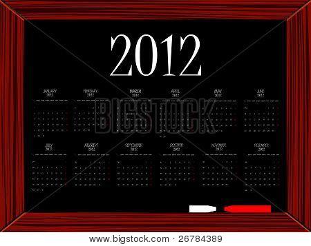 Calendário de 2012 a bordo
