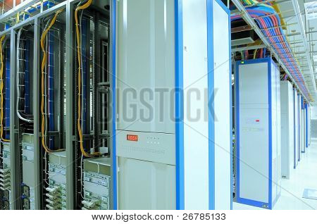 shot of network cables and servers in a technology data center Look at my gallery for more center.