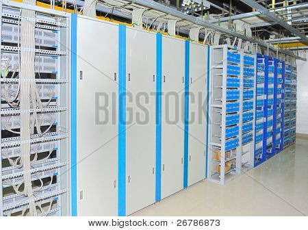 Corporate communications equipment in a technology data center see more in my portfolio
