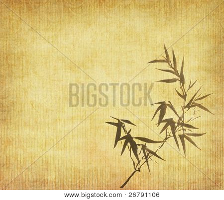 Grunge Stained Bamboo Paper Background