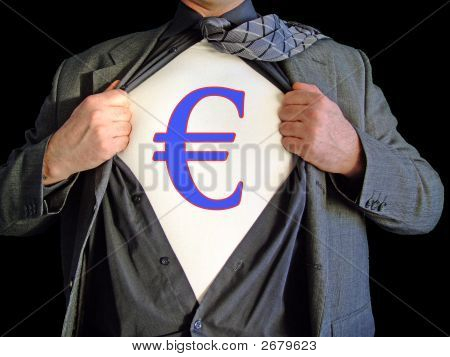 Superhelden-Euro-Dollar