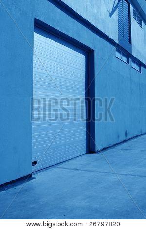 close up shot of a garage door