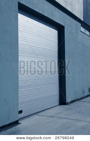 close up shot of a garage door
