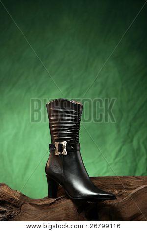 close up shot of a woman shoe