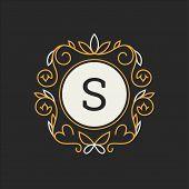 Floral Monogram. Classic Ornament. Classic Design Elements For Wedding Invitations. poster