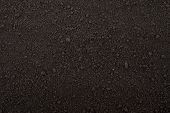 stock photo of arid  - Black soil texture - JPG