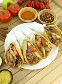 picture of greek food  - Gyros with pork meat - JPG