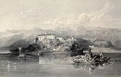 pic of luigi  - Antique illustration of Lake Garda - JPG