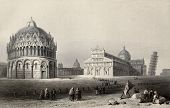 foto of luigi  - Antique illustration of Piazza dei Miracoli  - JPG