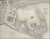 Port of Messina plan, Italy. Created by Beaubl�©, published on Voyage Pittoresque de Naples et de