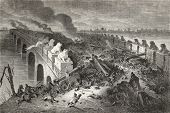 picture of opium  - Old illustration of Eight Mile Bridge  - JPG